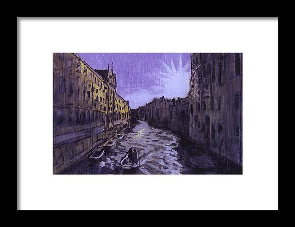 Landscape Framed Print featuring the painting After Rio Dei Mendicanti Looking South by Hyper - Canaletto