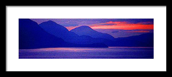 Pacific Framed Print featuring the photograph After Sunset Mountains 5 Pd by Lyle Crump