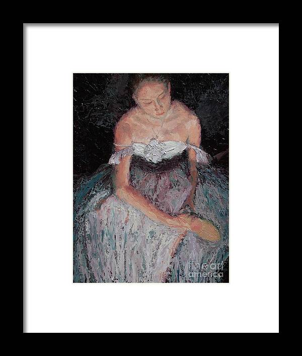 Ballerina (framed) Framed Print featuring the painting After the Ballet by Colleen Murphy
