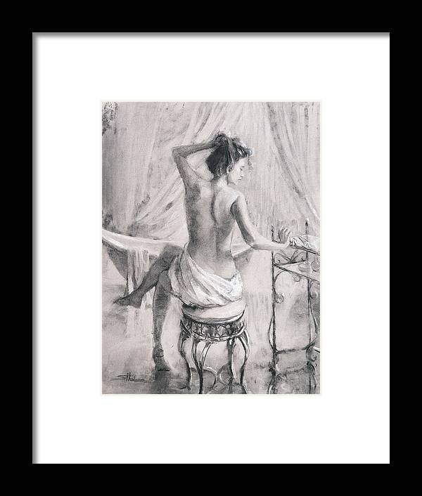 Bath Framed Print featuring the painting After the Bath by Steve Henderson