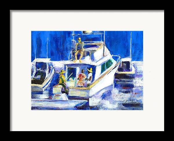 Fishing Framed Print featuring the mixed media After The Catch Sold by Randy Sprout
