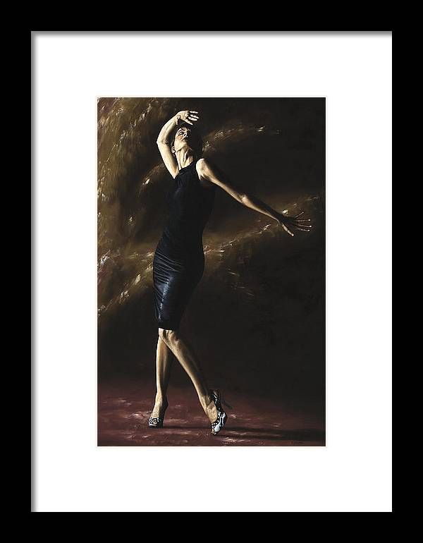 Dance Framed Print featuring the painting After The Dance by Richard Young