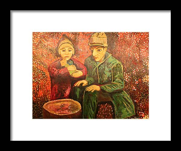 Framed Print featuring the painting After The Earthquake by Biagio Civale