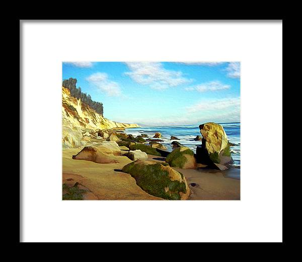 Ocean Framed Print featuring the photograph After The Fog Gaviota by Kurt Van Wagner