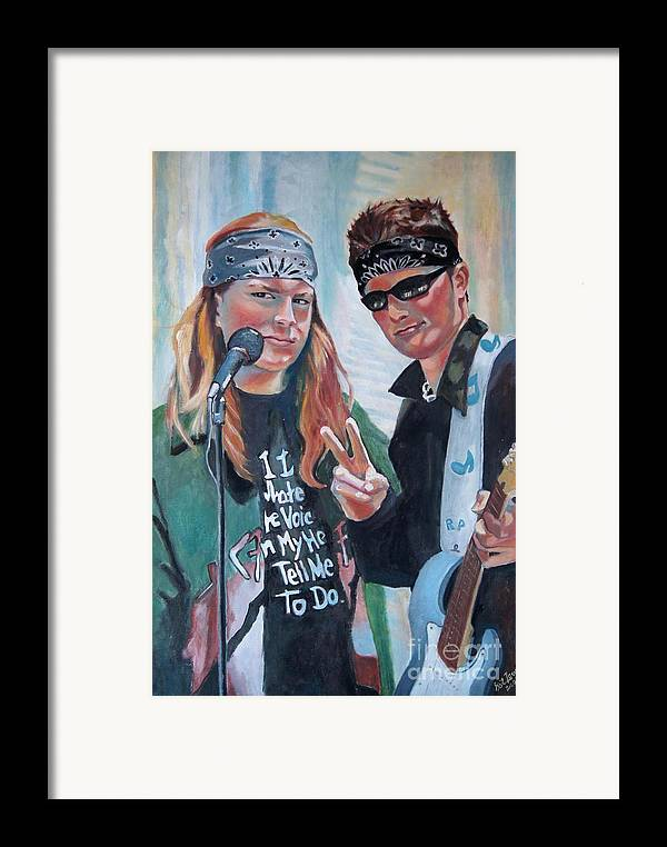 Music Framed Print featuring the painting After The Gig by Gail Zavala