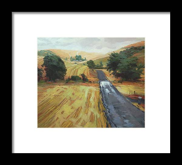 Country Framed Print featuring the painting After The Harvest Rain by Steve Henderson