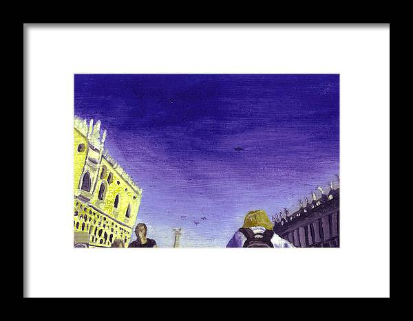 Landscape Framed Print featuring the painting After The Piazzetta Towards The South by Hyper - Canaletto