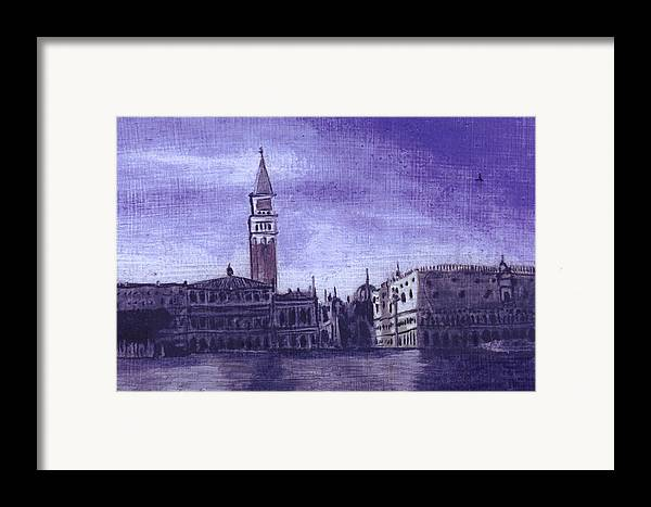 Landscape Framed Print featuring the painting After The Pier At San Marco by Hyper - Canaletto
