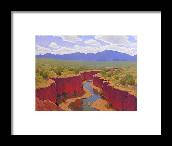Cody Delong Framed Print featuring the painting After The Rain by Cody DeLong