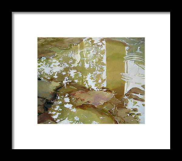 Rain Framed Print featuring the painting After The Rain by Denise Ivey Telep