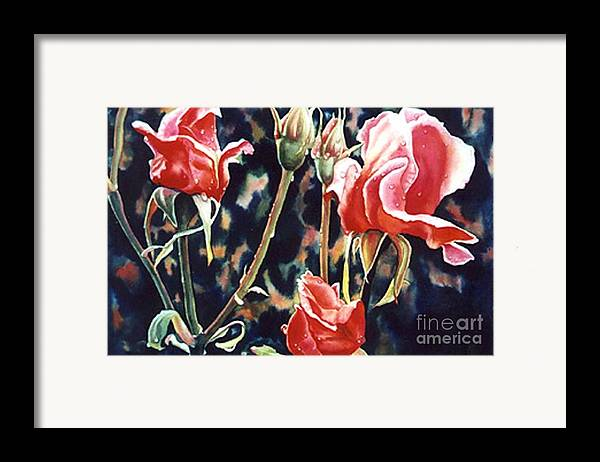 Roses Framed Print featuring the painting After The Rain by Gail Zavala