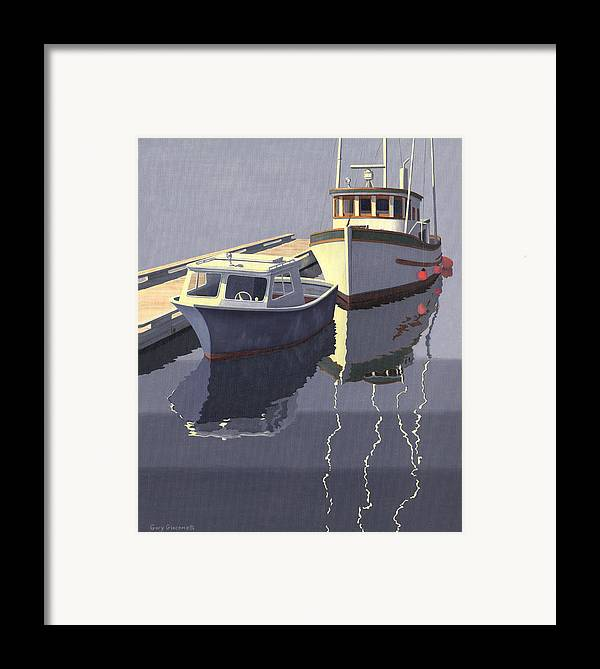 Boat Framed Print featuring the painting After The Rain by Gary Giacomelli