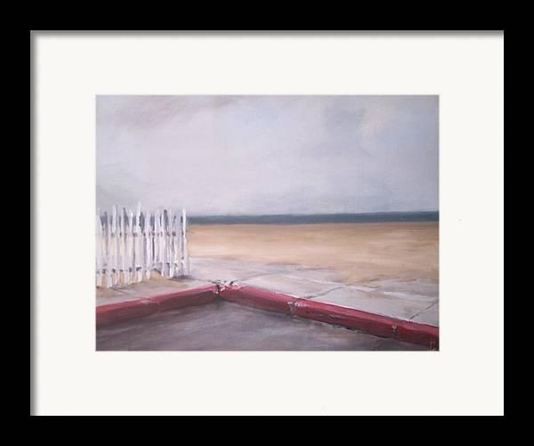Rain Newport Beach Framed Print featuring the painting After The Rain Newport Beach by Philip Fleischer