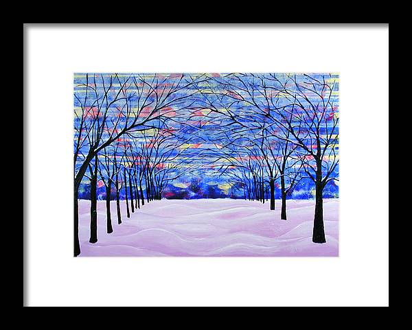 Landscape Framed Print featuring the painting After The Snow by Rollin Kocsis