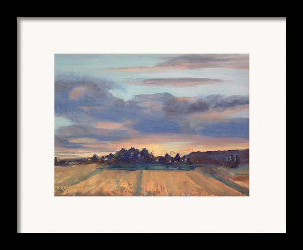 Landscape Framed Print featuring the painting After The Storm by Bryan Alexander