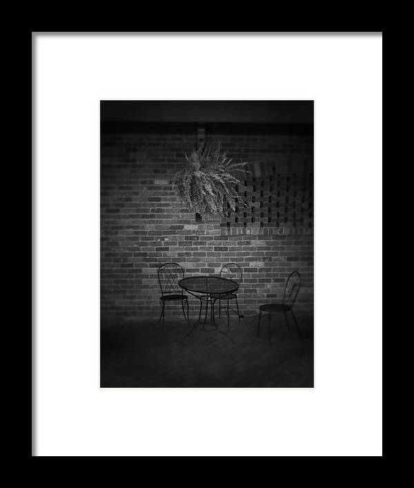 Table Framed Print featuring the photograph After The Storm by Jessica Burgett