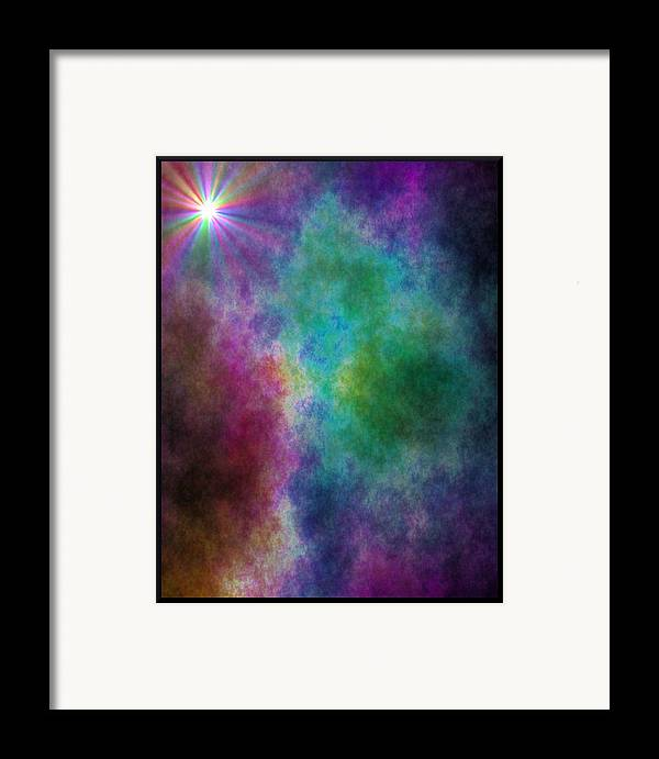 Framed Print featuring the digital art After The Storm by Lisa Johnston