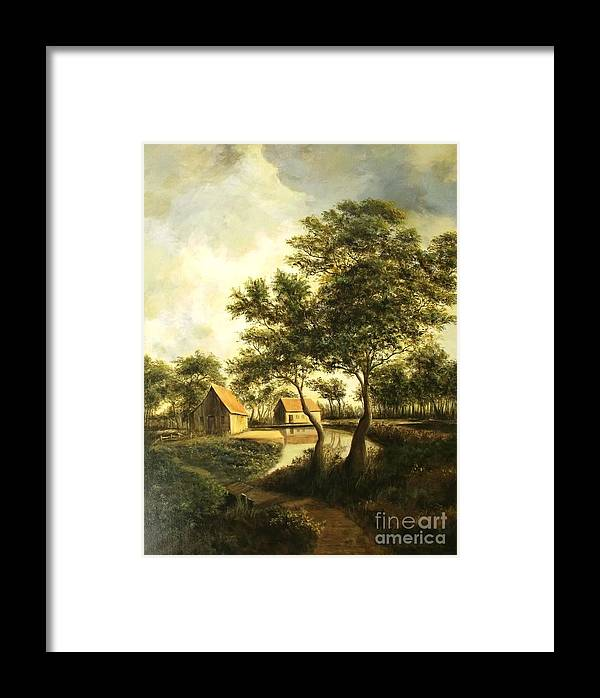 Canvas Print Landscape Framed Print featuring the painting After The Storm by Madeleine Holzberg