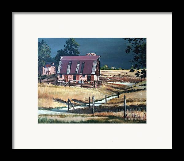 Scene Framed Print featuring the painting After The Storm by Suzanne Schaefer
