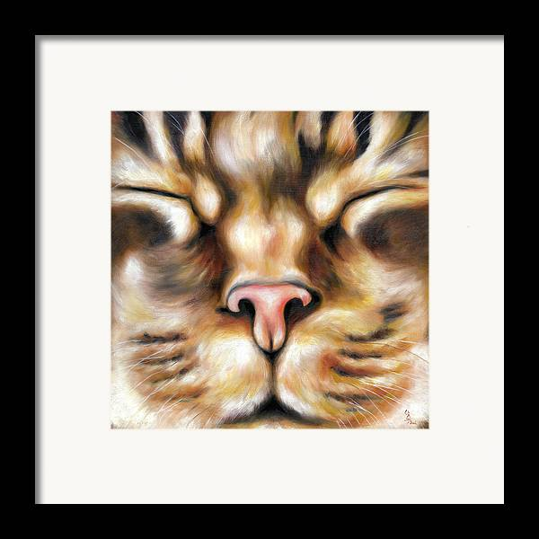 Cat Framed Print featuring the painting Afternoon by Hiroko Sakai