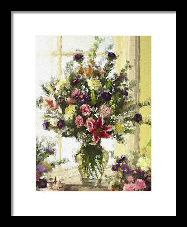 Flowers Framed Print featuring the digital art Afternoon Kissed Of Color by Stephen Lucas