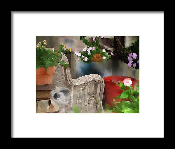 Stillife Framed Print featuring the photograph Afternoon Nap by Ken Barker