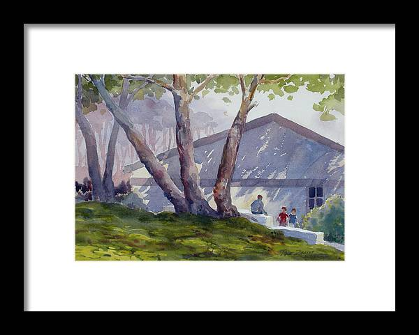 Landscape Framed Print featuring the painting Afternoon Shadows by Faye Ziegler