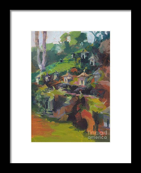Framed Print featuring the painting Afternoon Shrines by Cynthia Riedel