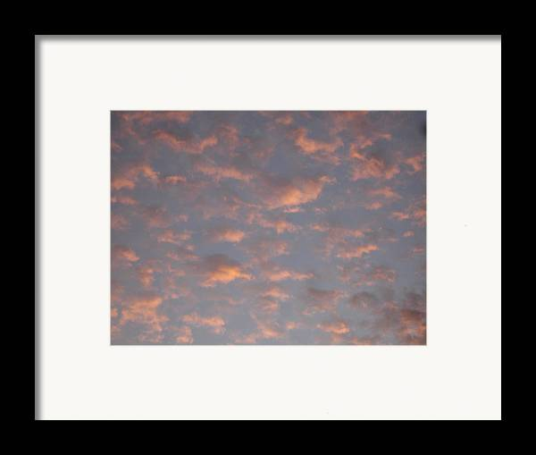 Skyscape Framed Print featuring the painting Afternoon Sky 11 by Roger Cummiskey