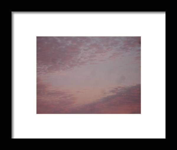 Skyscape Framed Print featuring the painting Afternoon Sky by Roger Cummiskey
