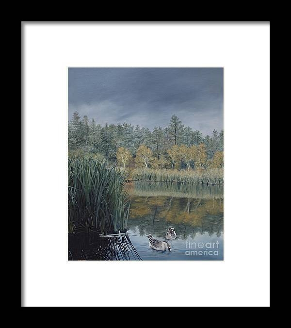 Prescott Framed Print featuring the painting Afternoon Storm Approaching Lynx Lake Prescott Arizona by Barbara Barber