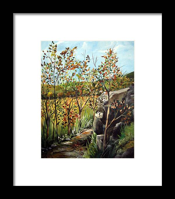Framed Print featuring the painting Afternoon Stroll by Ruth Palmer