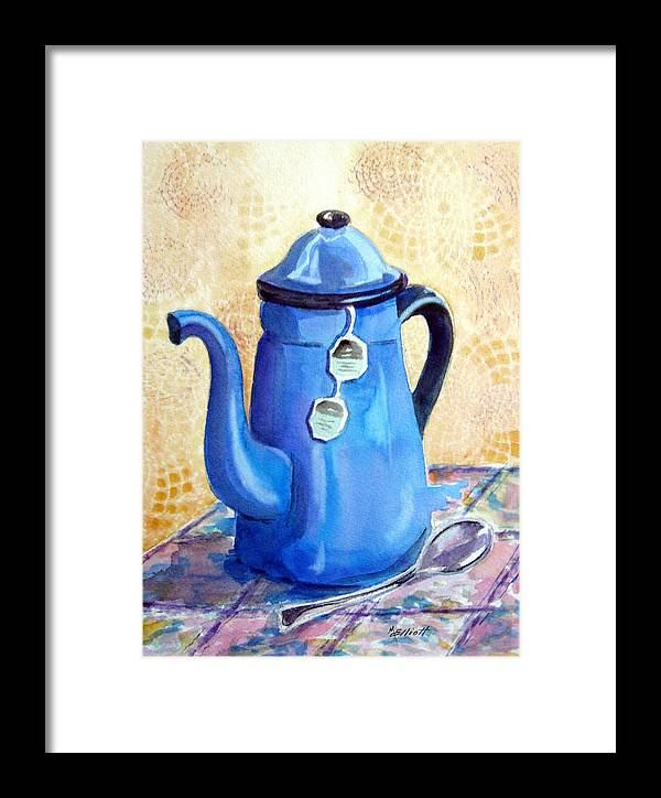 Tea Framed Print featuring the painting Afternoon Tea by Marsha Elliott