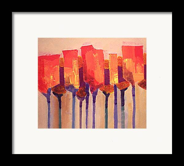 Impressionist Framed Print featuring the painting Afternoon Tulips by Dalas Klein