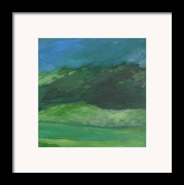 Landscape Framed Print featuring the painting Again For The First Time by Mary Brooking
