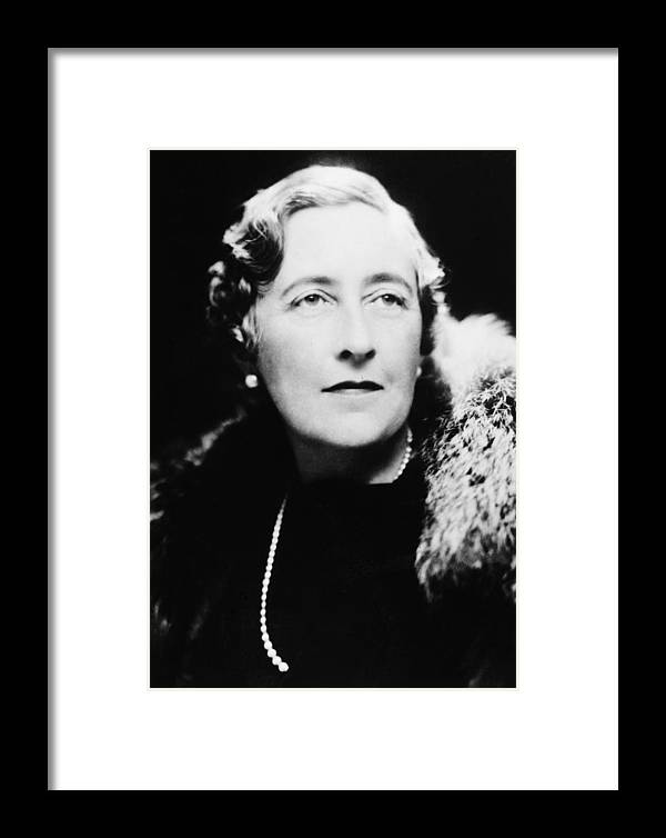 1940 Framed Print featuring the photograph Agatha Christie (1890-1976) by Granger