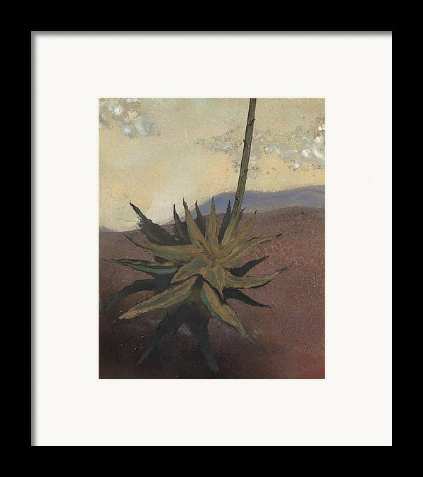 Desert Framed Print featuring the painting Agave by Fred Chuang