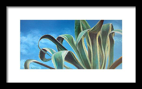 Floral Painting Framed Print featuring the painting Agave by Muriel Dolemieux