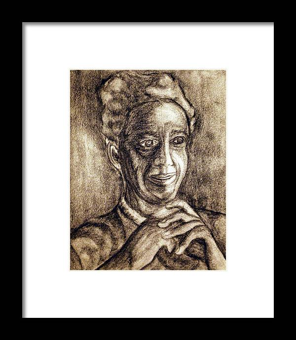 Woman Framed Print featuring the drawing Age And Grace by Tammera Malicki-Wong
