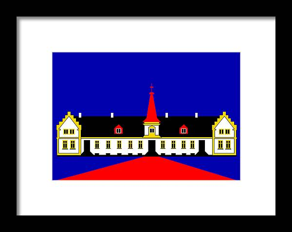 Manor House Framed Print featuring the digital art Agersboel Manor House by Asbjorn Lonvig