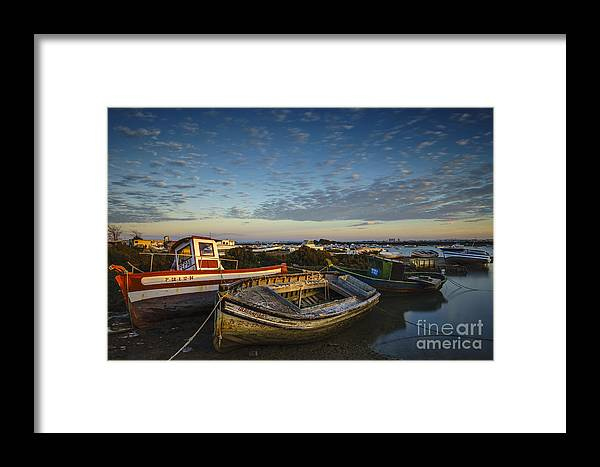Andalucia Framed Print featuring the photograph Aging Boats On Trocadero Pipe Puerto Real Cadiz Spain by Pablo Avanzini