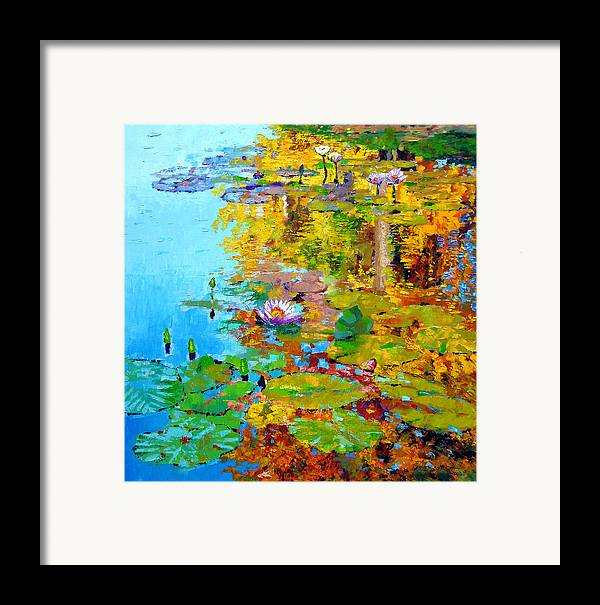 Fall Framed Print featuring the painting Aglow With Fall by John Lautermilch