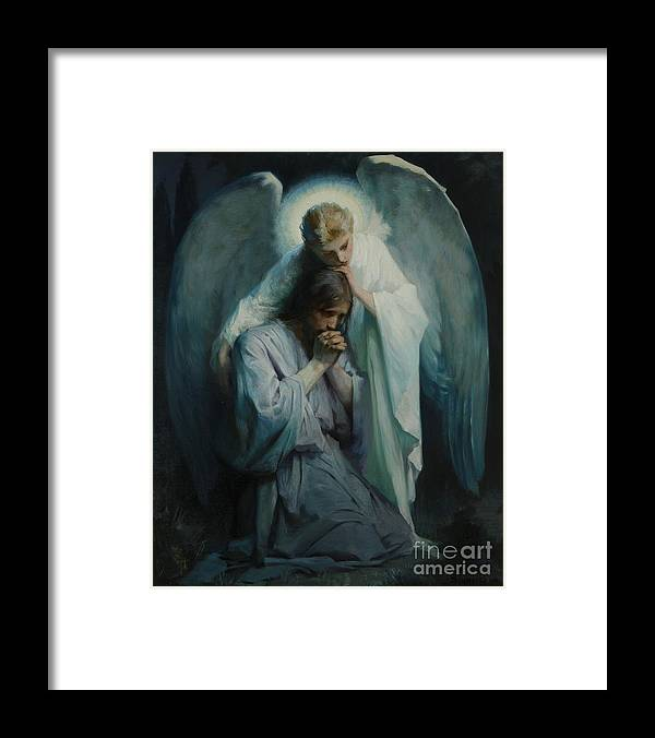 Frans Schwartz Framed Print featuring the painting Agony In The Garden by Frans Schwartz
