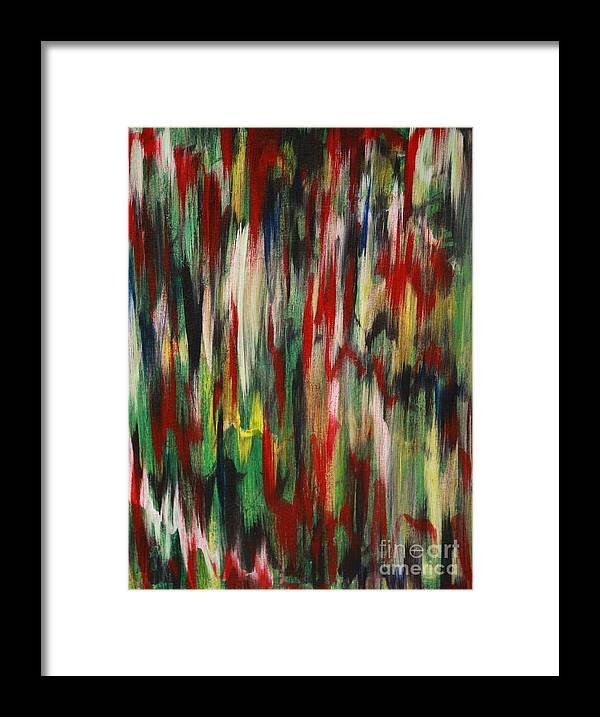 Abstract Framed Print featuring the painting Agony by Jacqueline Athmann