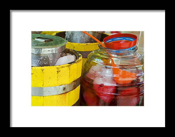 Beverage Framed Print featuring the photograph Agua De Hamaica by Skip Hunt