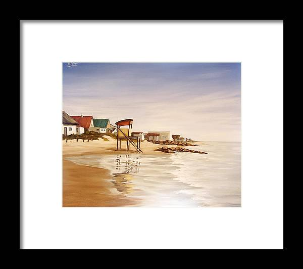 Seascape Sea Reflection Water Seaside Framed Print featuring the painting Aguas Dulces by Natalia Tejera