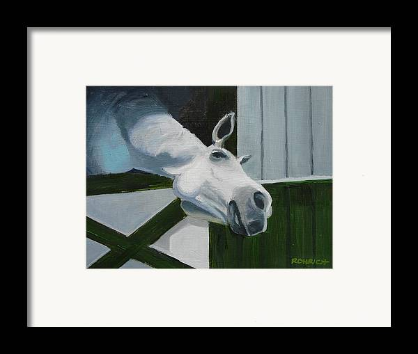 Horse Framed Print featuring the painting Ah Common A Little More by Robert Rohrich