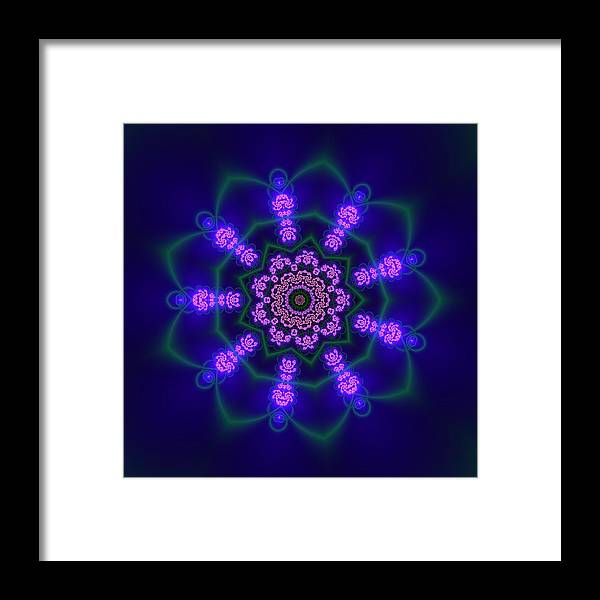 Mandala Framed Print featuring the digital art Ahau 9.1 by Robert Thalmeier