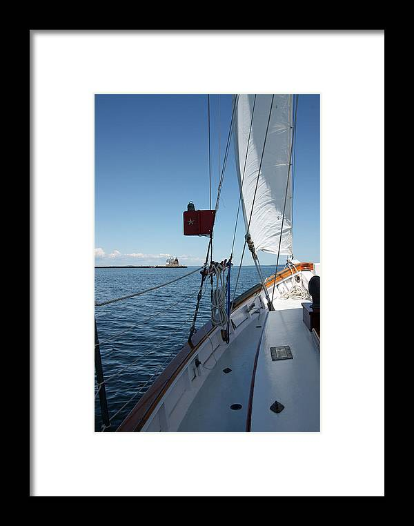 Sailing Framed Print featuring the photograph Ahoy by Becca Brann