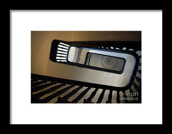 1419 Framed Print featuring the photograph Aiken Rhett Stairs by Dale Powell